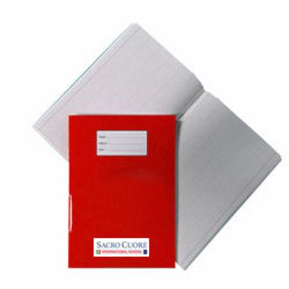 Immagine di Quaderno A4 a riga unica con margine Rosso S. C.