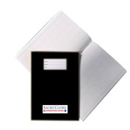 Immagine di Quaderno A4 a quadretti 5mm con margine Nero S. C.
