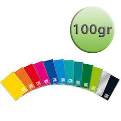 Immagine di Quaderno A4 One Color riga unica con margine 100gr