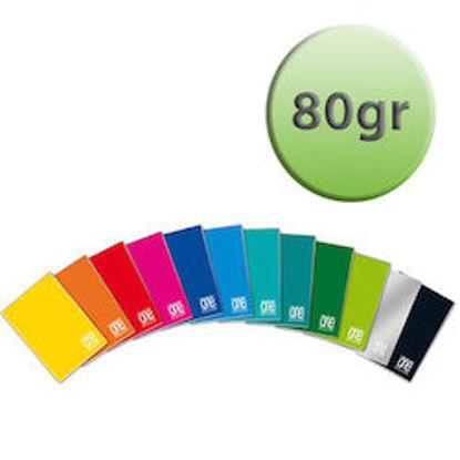Immagine di Quaderno A4 One Color a quadretti 4mm con margine 80gr