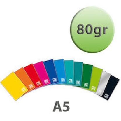 Immagine di Quaderno A5 One Color righe 3a elem. con margine 80gr